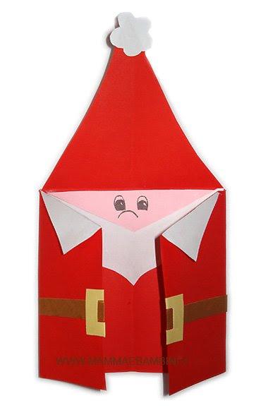 Babbo Natale Lavoretti.I Giochi Di Carta Papercraft Papertoy Biglietto Babbo Natale