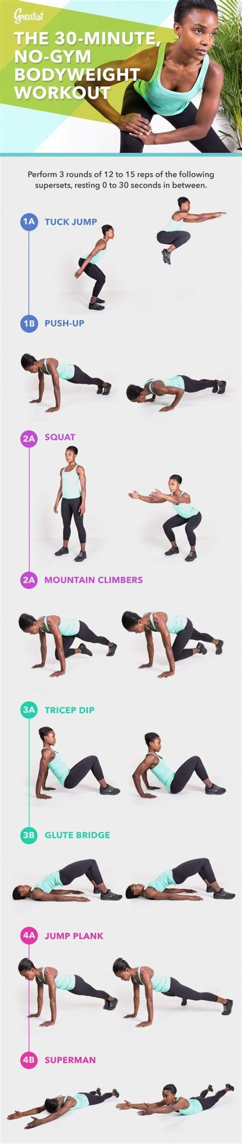 minute  gym bodyweight workout