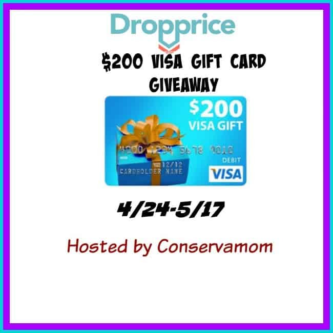 Enter the $200 Visa Gift Card Giveaway. Ends 5/17