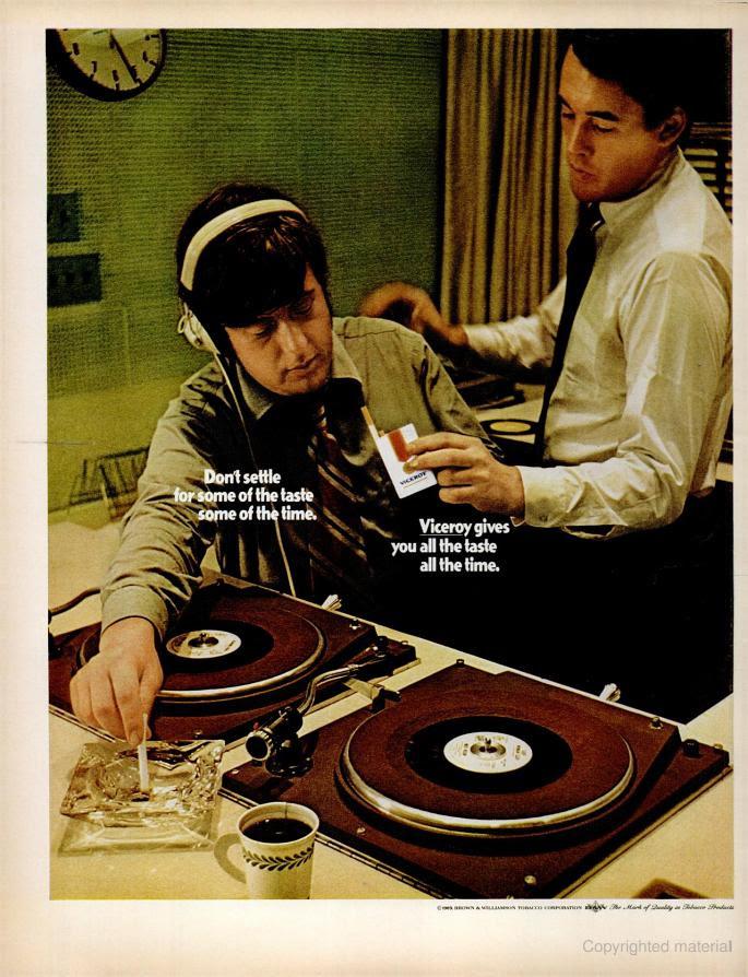 cigarette ad in Life Magazine, 1970