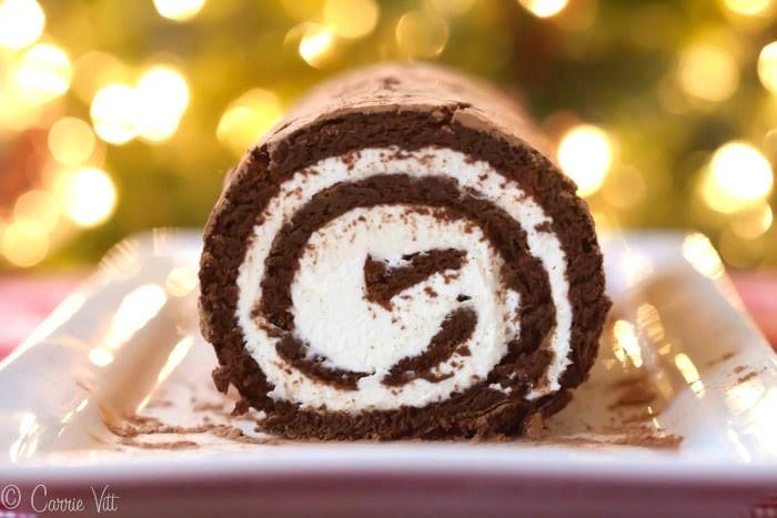 Chocolate Swiss Roll Cake Recipe (Grain-Free, Paleo)