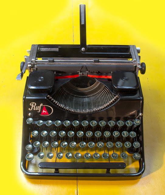 Ruf portable typewriter