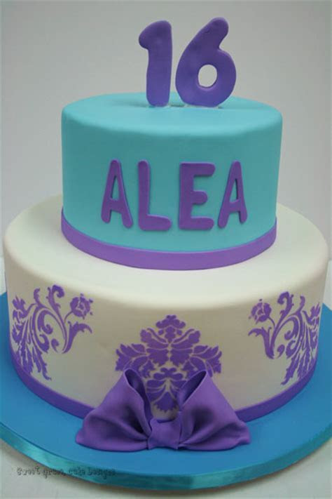Sweet 16 Cakes NJ   Purple and Blue Custom Cakes