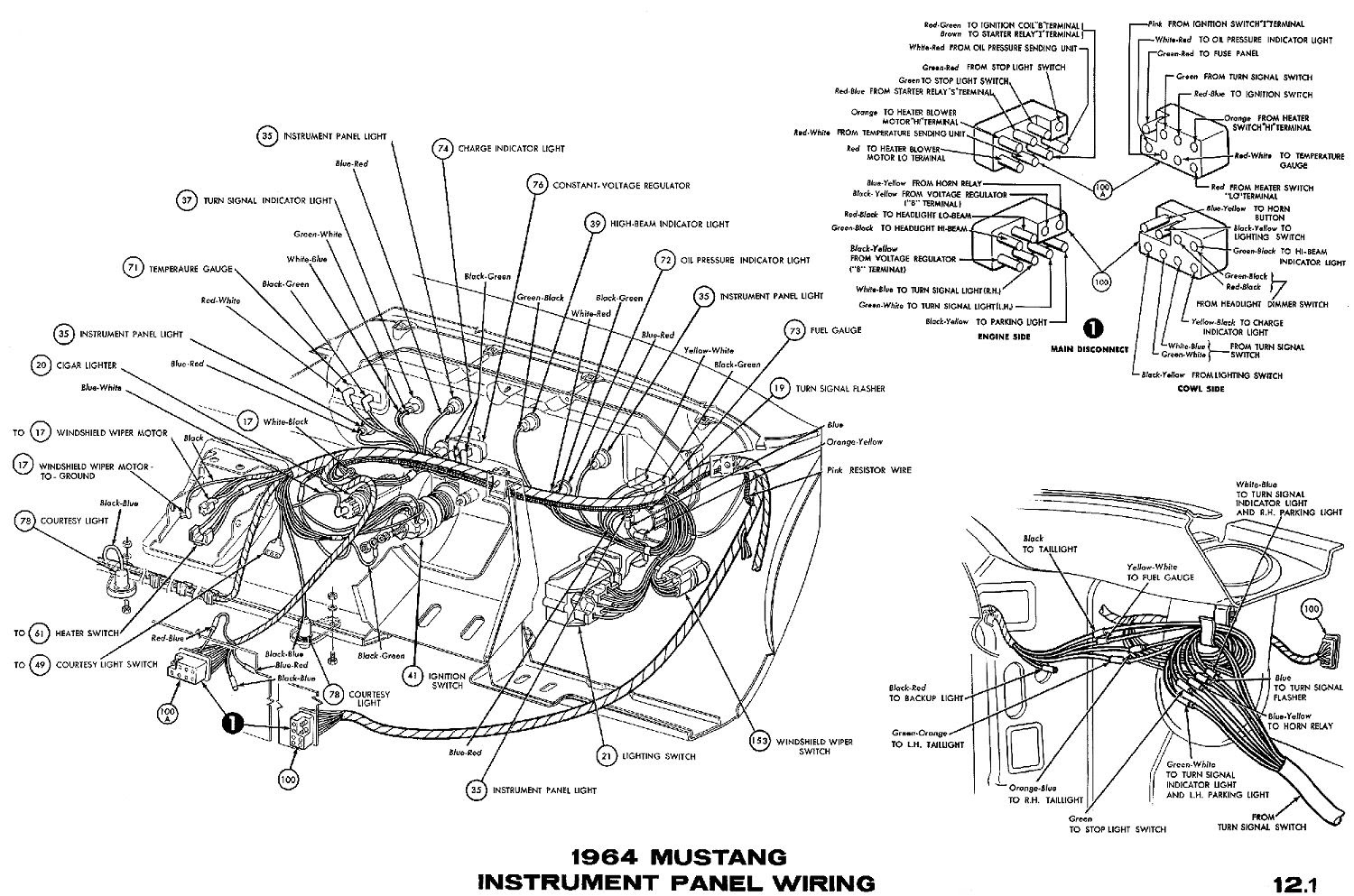 1965 Mustang Instrument Panel Wiring Diagram Wiring Diagram Correction Correction Cfcarsnoleggio It