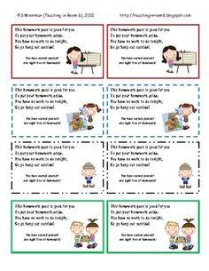 Colorful No Homework Passes - Classroom Management & Rewards ...