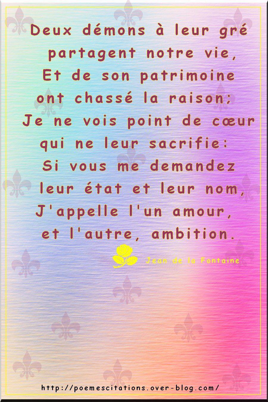 Amour Et Ambition Poèmes Et Citations