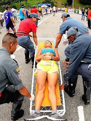 corredores chegada Meia Maratona São Paulo  (Foto: Marcos Ribolli / Globoesporte.com)