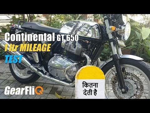 RE Continental GT 650 – 1Ltr Mileage Test | Hindi | GearFliQ