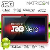 "7"" Matricom .TAB Nero Tablet PC - Android 4 Capacitive Multi-Touch 4GB (Red)"