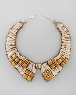 Nakamol Beaded Bib Collar Necklace