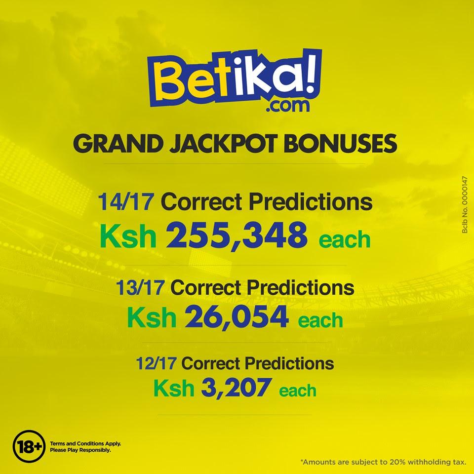 Betika Jackpot Results, Winners & Bonus В» Betwise