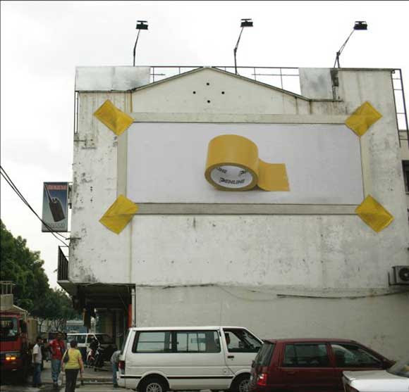 Penline Stationery: Strong tape billboard