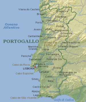 Portogallo Cartina Fisica In Italiano