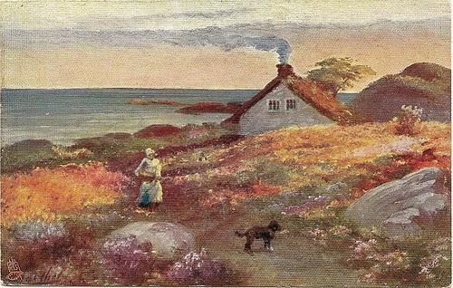 Gathering Flowers - Tuck postcard