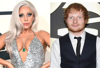 Lady Gaga confunde Ed Sheeran com garçom no Grammy Awards - Getty Images