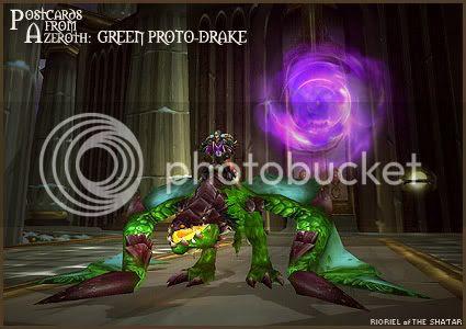 Postcards of Azeroth: Green Proto-Drake, by Rioriel Ail'thera