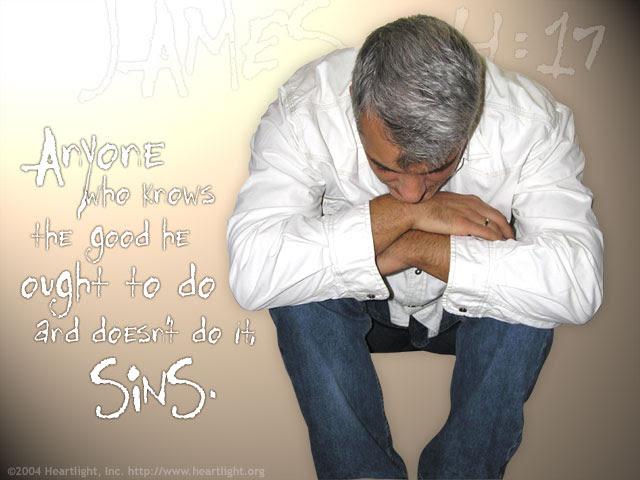 Inspirational illustration of James 4:17