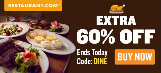 Restaurant.com Weekly Promo Offer 125 X 125