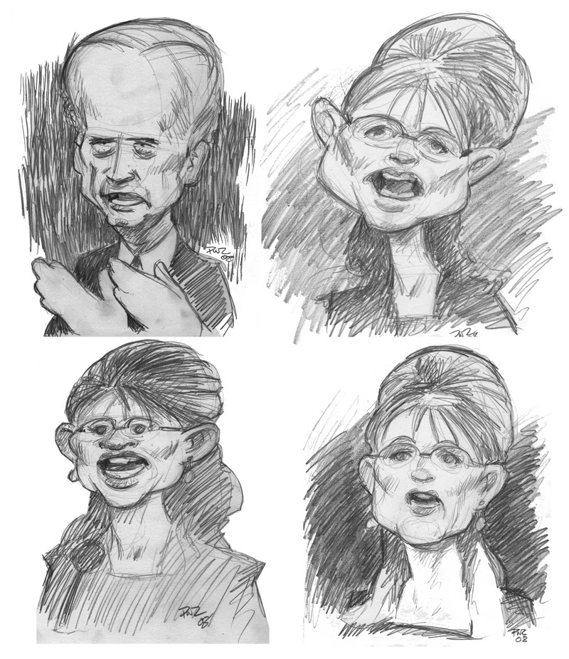 zdepski's sketches from the Vice Presidential Debate, Oct 2nd