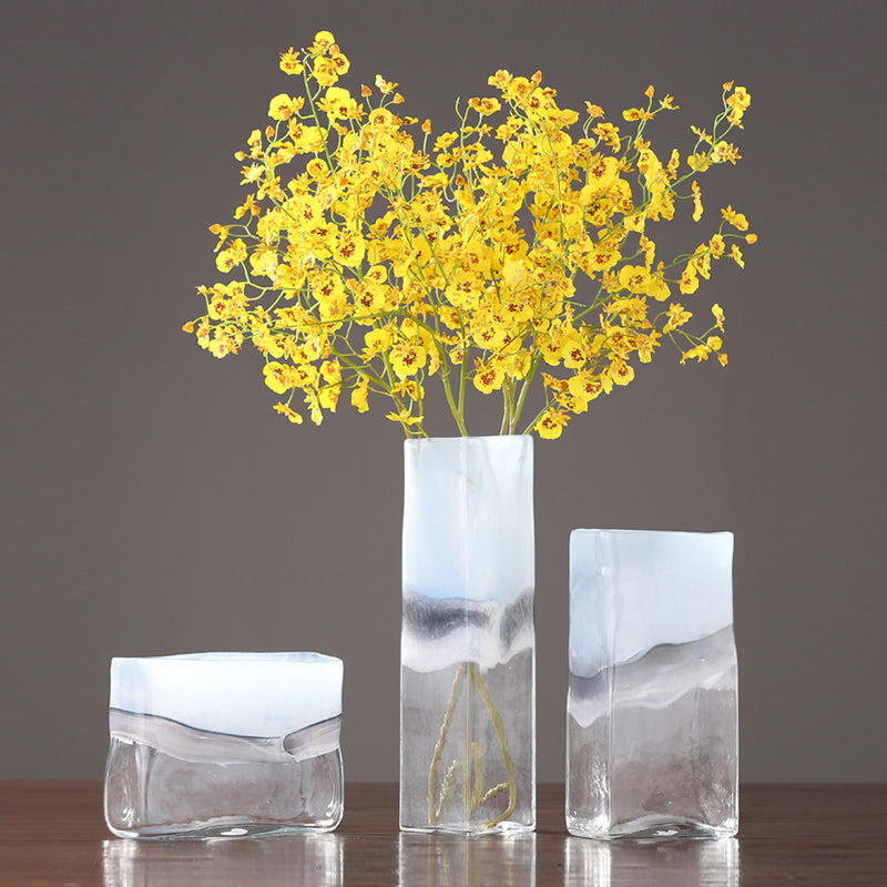 Frosted Glass Ice Cube Vase Targen