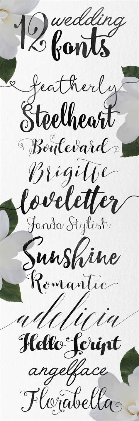 Calligraphy wedding fonts ? Skyla Design