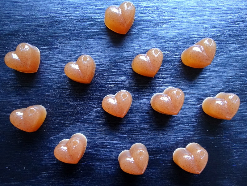 photo of heart-shaped gummy candies