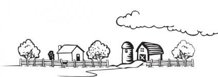 Mewarnai Buku Pertanian Lanskap Clip Art Vektor Clip Art Vektor