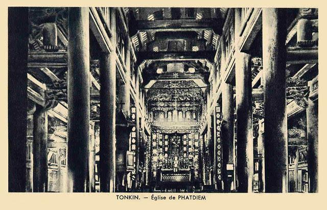 TONKIN - EGLISE DE PHATDIEM - intérieur - années 1910-20