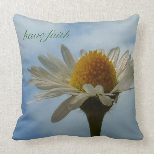 Faith and Daisy Throw Pillow mojo_throwpillow