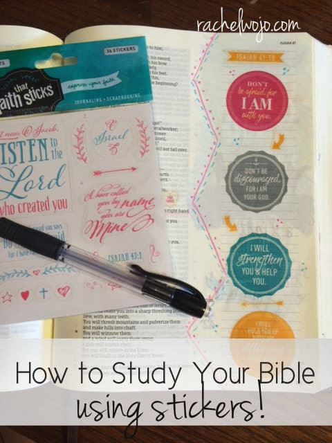 "I fell in love with Bible journaling and Bible art journaling last year. Using ""add-on's"" of different kinds has opened another creative Bible study outlet. Whether coloring with pencils or using stamps or adding stickers, I enjoy using art of all forms to help me remember and reflect on God's Word. So why study your Bible with stickers? Glad you asked! Here are 4 things I discovered when studying my Bible using stickers."