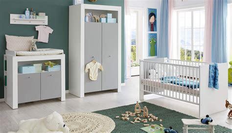 babyzimmer komplett set weiss grau schrank baby bett