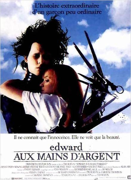 Edward aux mains d'argent : Affiche Johnny Depp, Tim Burton, Winona Ryder