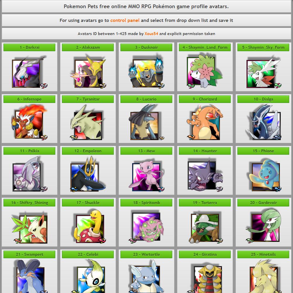 PokemonPets: Free Online Pokemon MMORPG Game images