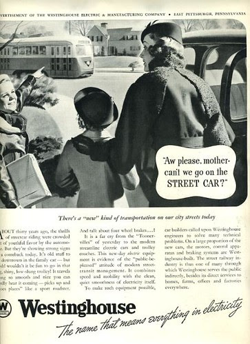 Clip from Westinghouse streetcar ad