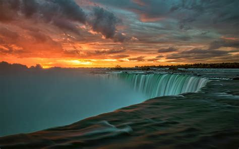 niagara falls  canada sunset landscape nature  ultra