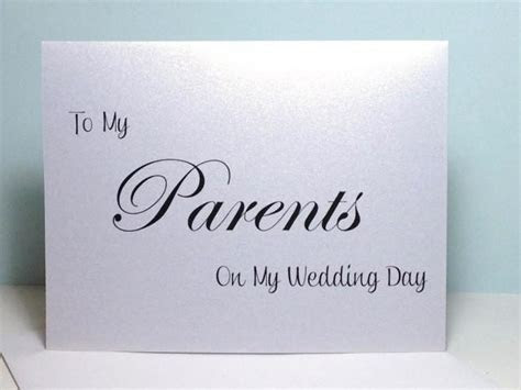 To My Parents On My Wedding Day Thank You Card, Wedding