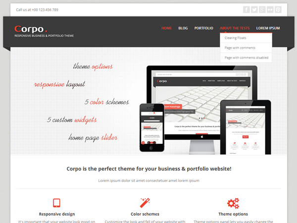 Corpo Free WordPress Theme