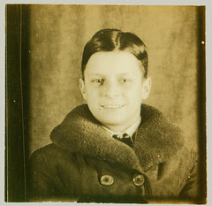 Photobooth boy with fur collar