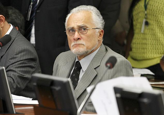 O deputado federal José Genoino durante sessão da CCJ na Câmara dos Deputados no mês de abril