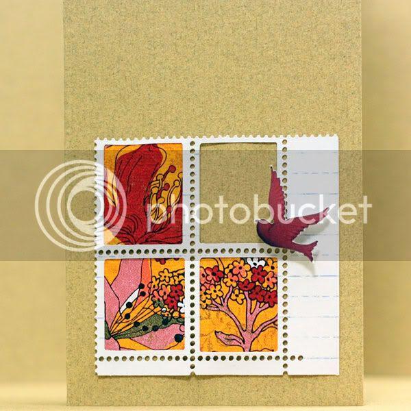 Flowers Bird card