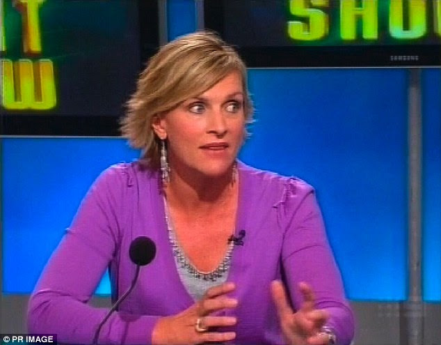 Wilson is pictured here in 2009 on Channel Nine's The Footy Show