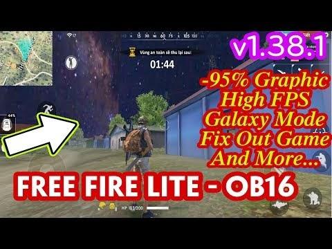 FREE FIRE LITE APK v1.38.1 #1│Giảm 95% Đồ họa Full Map,Galaxy Mode,High FPS│Fix Out Game cho máy yếu