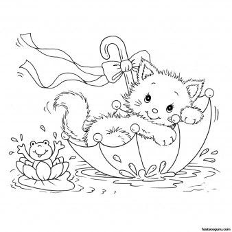 kitty cat coloring pages printable  super duper coloring