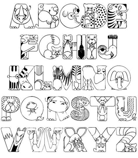 alphabet coloring pages  printable coloring home