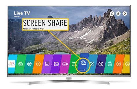 screen mirroring  lg smart tvs