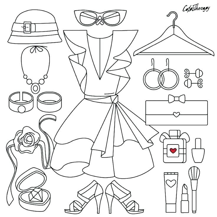 Download Fashion Clothes Coloring Pages at GetColorings.com   Free printable colorings pages to print and ...