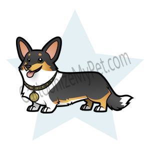 Here's the cartoon Cardigan Welsh Corgi I made at Cartoonize My Pet!