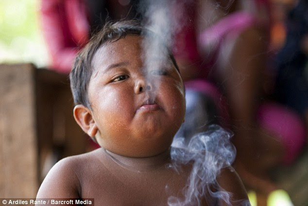 Always having a break: Ardi, who is rarely seen without a  cigarette, insists on the same brand, costing £78 a day