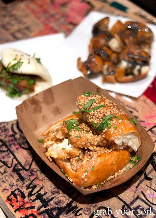 chairman bao coffin bao fried chicken sweet bao fries at baohaus new york nyc east village