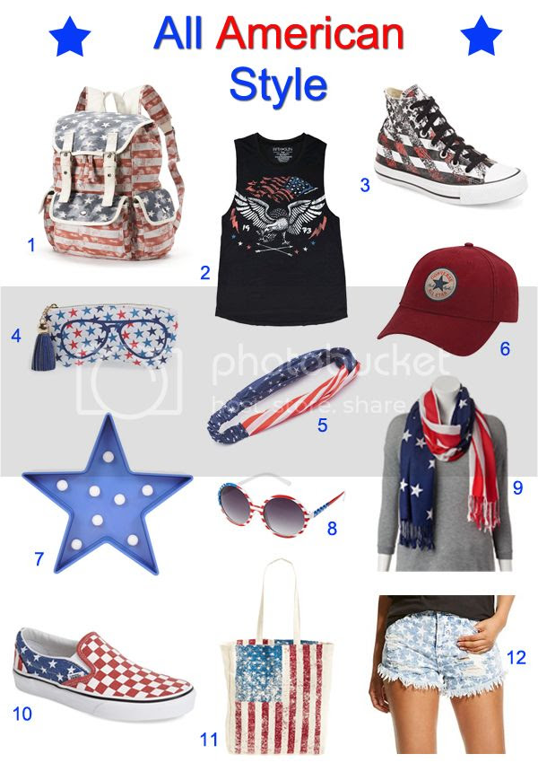 Americana fashion trend 2015, American flag fashion favorites